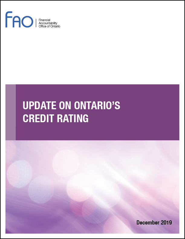 Update on Ontario's Credit Rating